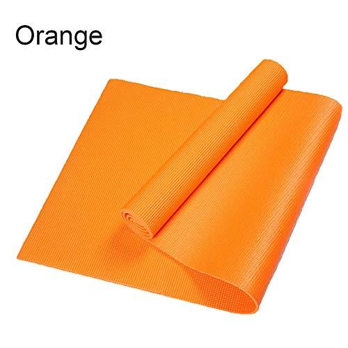 6 Farbe 6mm Dicke PVC Pilate rutschfeste Yoga Matte Fitness übung Gewichtsverlust Pad,Orange-1730 * 610 * 6mm