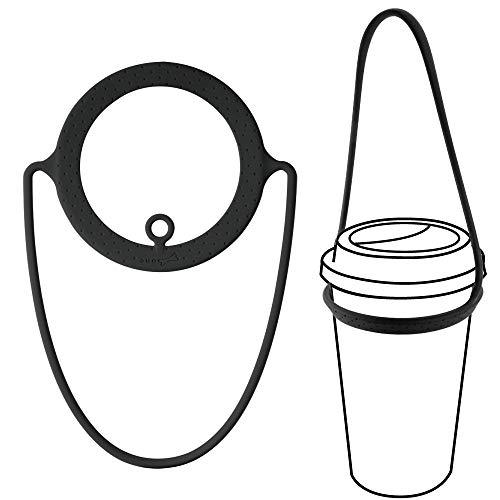Bone Cup Tie ドリンクカップホルダー シリコン製 ブラック LF18082-BK