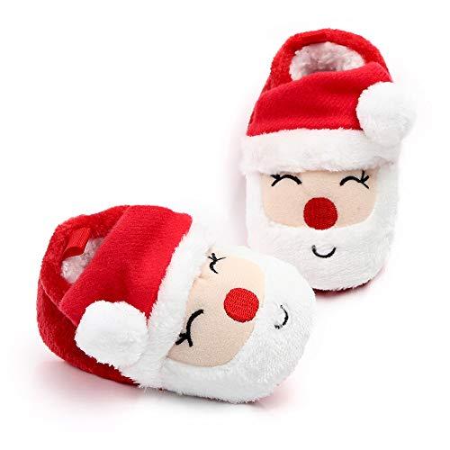 WangsCanis Weihnachtsschuhe für Neugeborene, Unisex, Schuhe für erste Schritte, für Kinder, Weihnachtsgeschenk 3-5 Monate