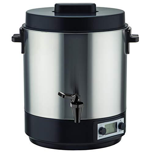 Kitchen Move Elektrischer Sterilisator, Edelstahl, 31 l, 2100 W, ReDWOD mit digitaler LCD-Anzeige und Hahn, einstellbare Temperatur und Timer