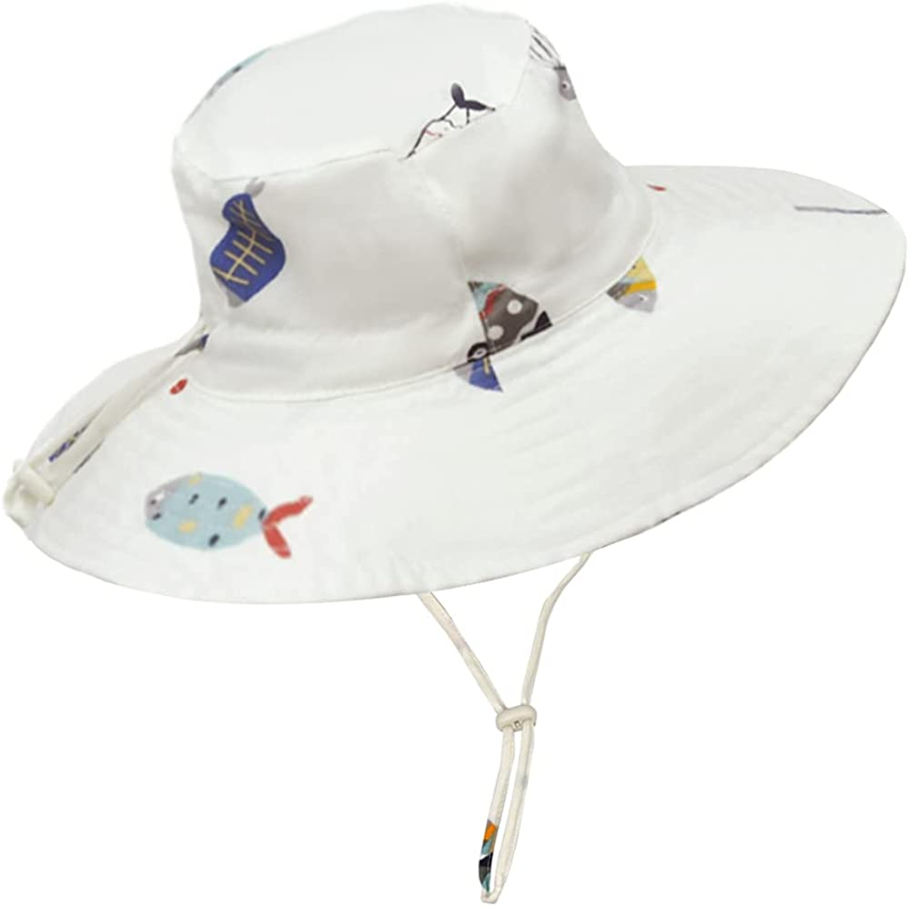 Acapeting Baby Sun Hat Toddler UPF 50+ Wide Brim Hat with Adjustable Chin Strap