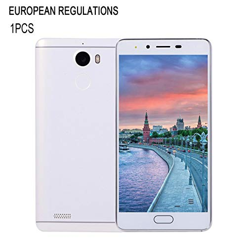 5.0 Pulgadas Pantalla Grande Teléfono Inteligente Teléfono móvil Red 2G 512Mb + 512Mb Memoria Teléfono Inteligente Inteligente Cámara teléfono (Blanco)(JIO-S)