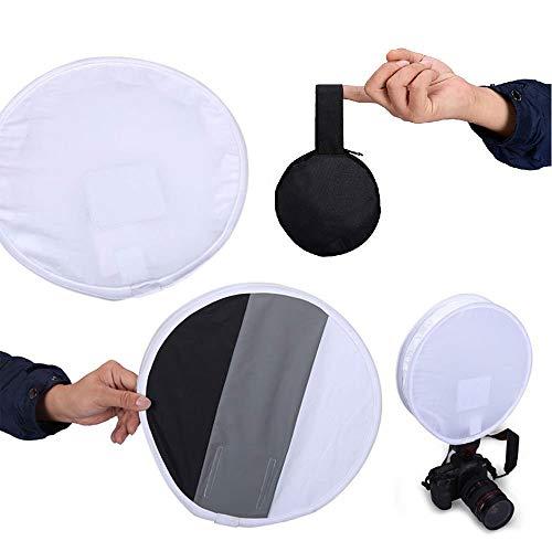 Selens 31cm Mini Runde Blitz Diffusor Softbox Graukarte Funktion für Weißabgleich bei DSLR Kamera Canon Nikon Olympus