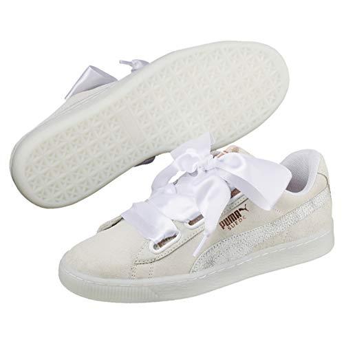 Puma Suede Heart Artica Wns, Zapatillas para Mujer, Blanco White White 01, 38 EU