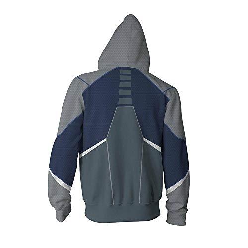 Men's Sweatshirt Long Sleeve Sweatshirt Avengers Hoodie Superhero 3D Digital Print Hoodie Cosplay Quicksilver-M