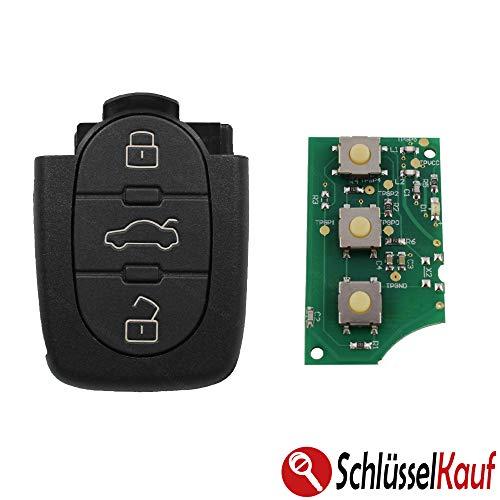 Sender Auto Schlüssel 433,92 MHz 4D0837231A 3 Tasten Gehäuse Sendeeinheit Funk Fernbedienung Funkschlüssel Funkgehäuse Ersatz Ersatzgehäuse Neu passend für Audi A6 C5 4B A8 4D A4 B5 A3 8L