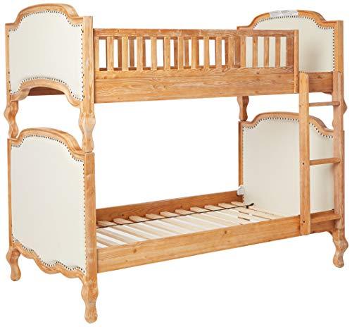 ACME Furniture Bed, Cream Linen & Salvage Oak