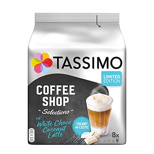 Tassimo Kapseln Coffee Shop Selections, Typ White Choco Coconut Latte, 40 Kaffeekapseln, 5er Pack (5 x 8 Getränke) - nur für kurze Zeit verfügbar