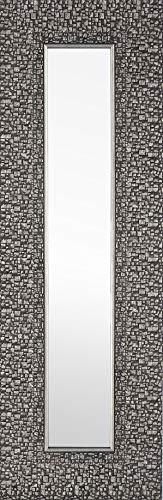Mirrorize Espejo de diseño Estrecho, 1.5DX9.25HX27.75W, Mosaico Plateado Oscuro, 3 Piezas