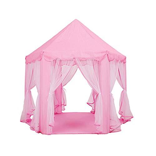 LY Kids Play Tentes Intérieur Château Tente Maison Maison Coupe-Vent Moustique Bébé Garçon Fille Princesse Intérieur Jouet Lit Bébé Play Maison Bleu Tente Activité Centre (Couleur : Rose)