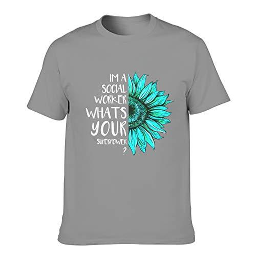 Camiseta de Trabajador Social Comforsoft Chic Camiseta de Algodón para Hombres Mujeres
