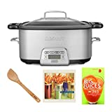 Cuisinart MSC800 Cook Central Multi-Cooker (7-Quart) Bundle Set w/Bamboo Spatula and Cookbooks (4 Items)