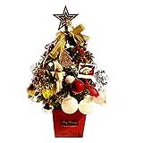 ZHongWei - Corona de Navidad Paquete de Navidad Árbol de Escritorio Mini pequeño Decoración Decoración de Cajas 45cm Arboles de Navidad (Color : Gold)