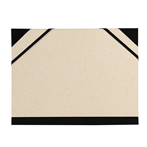 Carpeta Dibujo 26 X 33 cm, Canson Brut Gris Claro, con Gomas