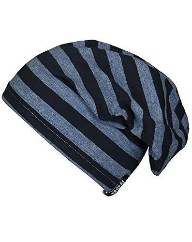 Döll Mädchen Jersey-Mütze Gr.51-55 Beanie blau Pferde UV 30+ neu!, Größe:53