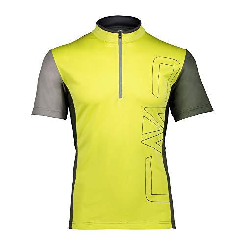 CMP Radtrikot Man Free Bike T-Shirt gelb atmungsaktiv schnelltrocknend (50/L)