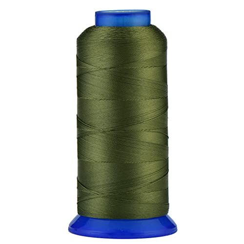 Selric [1500Yards / 30 Colors Available] UV Resistant High Strength Polyester Thread #69 T70 Size 210D/3 for Upholstery, Outdoor Market, Drapery, Beading, Purses, Leather ( Olive Green )