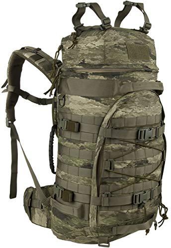 Wisport Backpack Camo + inkl. E-Book   Rucksack Camouflage   Militärrucksack taktisch   Armeerucksack   Military   Army   Taktik   Molle   Cordura   55 L   A - TACS iX   Crafter
