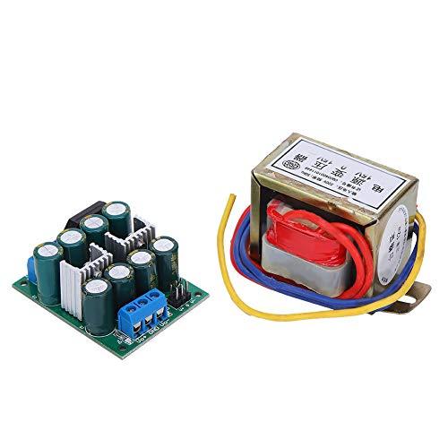 Voltajes de salida dual Fuente de alimentación lineal DIY Prcatical Durable Mini convertidor de potencia lineal de tamaño para amplificador de potencia de audio