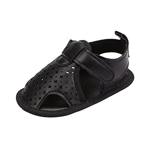 Sandalias Bebé Niña Verano Zapatos Casual Comodas Goma Antideslizante Suela Suave Sandalia niña niño con Punta Cerrada para Caminar Feroz Zapatos Bebe Primeros Pasos 0-18 Meses Zapatos para pequeños