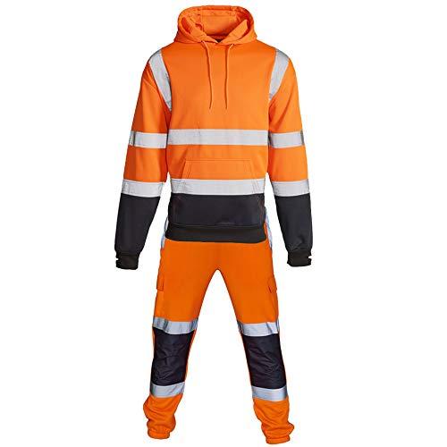 Hi Vis Viz - Chándal alta visibilidad capucha pantalones