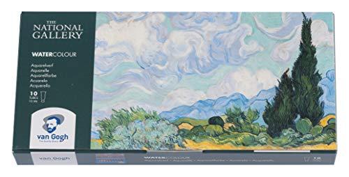 Royal Talens–Van Gogh–El National Gallery–Juego de acuarelas–10x 10ml Tubos
