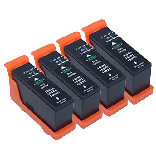 Cartuchos de tinta 105 108XL, repuesto para impresoras Lexmark S708 S208 S408 S205 S305 308 S405 S505 S508 S605 de alto rendimiento para impresora de inyección de tinta, 4 colores negro x 4