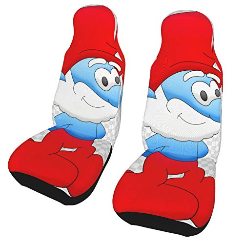 Brainy Smurfette Cute Car Seat Covers for Front of Vehicle Seat Car Mat Fit Most Car Truck SUV Van