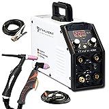 STAHLWERK CT 550 ST - máquina de soldar TIG/MMA compacta con cortador de plasma hasta 12 mm, 200 A TIG/MMA + 50 Amperio CUT (sin soldadura ALU)