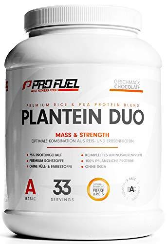 PLANTEIN DUO   Premium Protein-Mix auf pflanzlicher Basis   100% Vegan Protein Powder & High Protein   Cremig & Lecker   Made in Germany   1kg - (Schokolade)