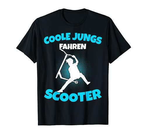 Coole Jungs fahren Scooter Stunt Roller Jungen & Kinder T-Shirt