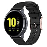 Disscool Bandas de silicona de 20 mm para Samsung Galaxy Watch Active 3/Active 2/Active/Galaxy Watch...