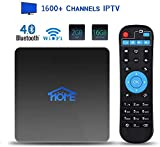 IPTV Box 4K Android TV Receiver, No Subscription Fee 1600+ International Live Channels