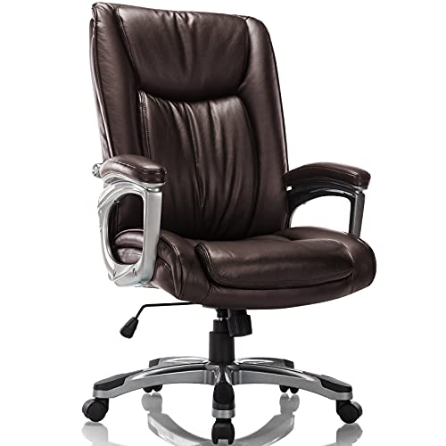 Rimiking Executive Office Chair - Conference Computer Desk Chair Adjustable Height Built-in Lumbar...