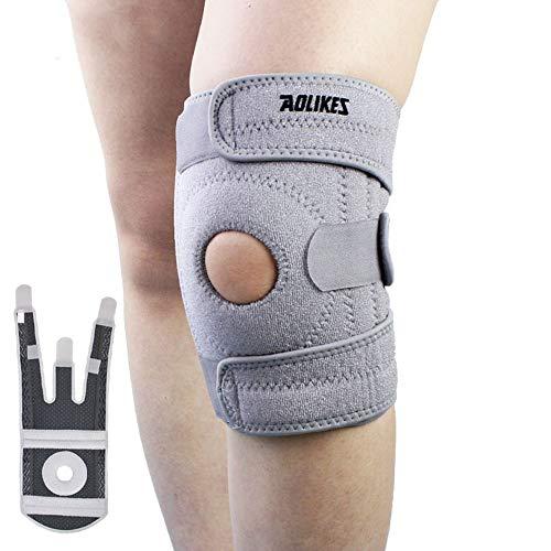 Rodillera Knee Active Plus Rodilleras Baloncesto Rodilleras para Correr La articulación de la Rodilla Apoyo Soportes de Rodilla Grey,One Size