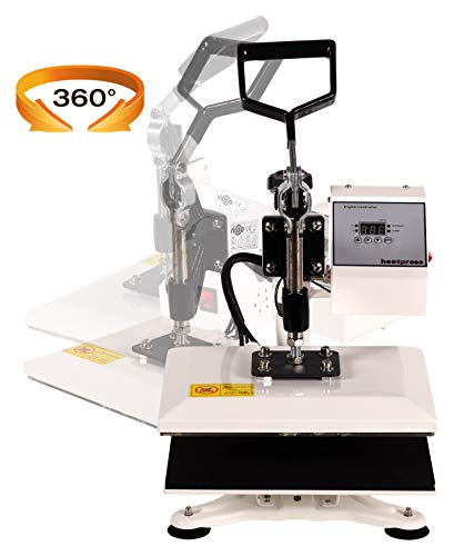RICOO Transferpresse Power Zwerg-TW Druckfläche: 23x30cm Textildruckpresse Textilpresse Transfer Presse Thermopresse T-Shirtpresse Sublimationspresse geeignet für Flexfolie und Flockfolie || Shirt bedrucken günstig || Farbe: Verkehrsweiss - 3