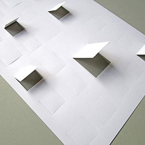 10 Blanco-Adventskalender, DIN A4 Querformat, Vorderseiten mit vorgestanzten (noch geschlossenen) Türchen, weißer Recyclingkarton 250 g/qm