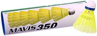 Yonex Mavis 350 Plastic Shuttlecocks White-Slow Speed(6 pcs)