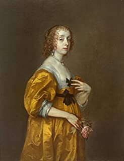 Wall Art Print Entitled Anthony Van Dyck, 1599-1641 Mary Villiers, Lady He by Celestial Images   11 x 14