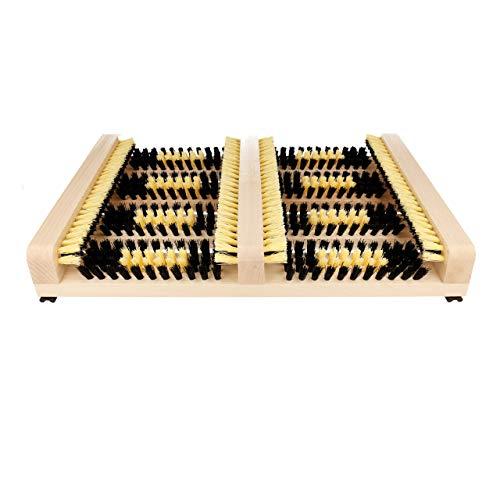 Lantelme Schuhabtreter Schuhabstreifer innen und aussen Seitenleisten kräftige Borsten Holz Schuhputzer 3241