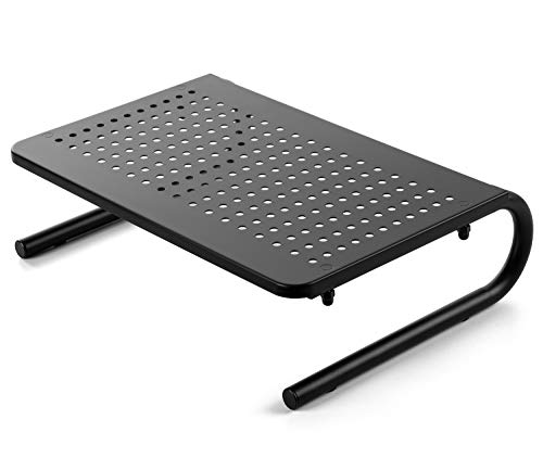 Computer Monitor Stand Riser with Vents, Laptop Stand Riser for 15.6