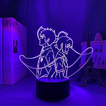 Z-LAN 3D Night Light Anime Merch Your Name Figure for Children s Room Decor Night Light Kids Bithday Gift Your Name Anime Led Light Bedroom  Color   7 Colors no Remote