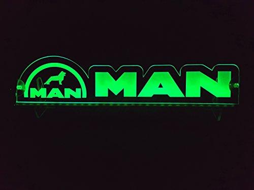 Other 24?V LED Light Neon Plaque pour Trucker Camion Vert Illuminant Sign Accessoires de d?coration de Table Cabine Grav? au Laser 24?V/5?W
