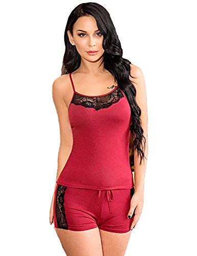 HiloRill Women's Polyester & Acrylic Above Knee Solid Babydoll Nighty...
