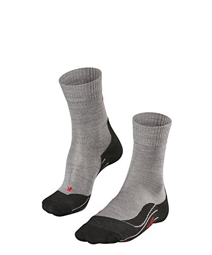 FALKE Damen Wandersocken TK5 - Wanderstrümpfe mit Merinowolle, Bergsocken für leichte Wanderschuhe, Socken mit leichter Polsterung, zum Wandern, 1 Paar, Grau (Light Grey 3403), Größe: 37-38