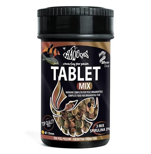 Haquoss Tablet Mix Alimento de Pastillas affondanti para Peces limpiadores de Fondo y Cristal, 100ml/44gr ⭐