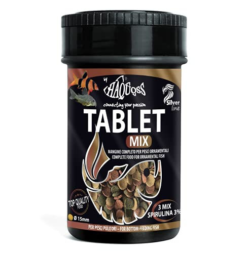 Haquoss Tablet Mix Alimento de Pastillas affondanti para Peces limpiadores de Fondo y Cristal, 100ml/44gr