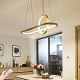 LED Pendellampe Esstisch Pendelleuchte Holz Dimmbar mit Fernbedienung esszimmer Rustikal Hängeleuchte Oval-Ring Design Höhenverstellbar Hängelampe Holzlampe für Arbeitszimmer Wohnzimmer Küche 33W 70cm
