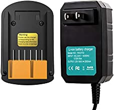 FLAGPOWER WA3742 20V Replacement Lithium Battery Charger for Worx 20V Power Share Battery WA3520 WA3525 WA3578 WA3575 WA3512 WA3512.1 WA3522 WA3544 Worx Battery Charger 20V WA3732 WA3875 WA3881