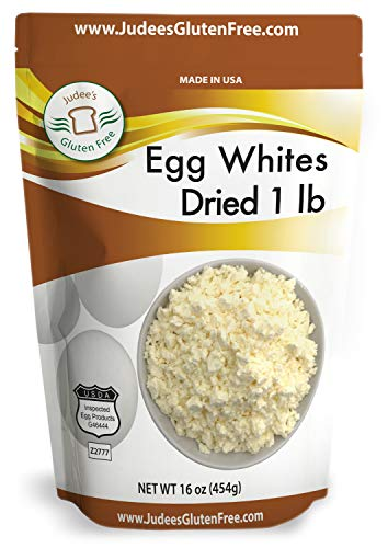 Judee's Dried Egg White Protein 16 oz -Baking, Meringue, Smoothies -Non-GMO, USA Made, USDA Certified -Made from Freshest of Eggs (50 lb Bulk Size Available)